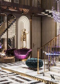 Interior Design And Construction, Luxury Interior Design, Luxury Apartments, Luxury Living, Living Room Designs, Sculptures, Decor Ideas, Interiors, Space