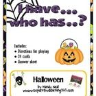 free! Using this I have..Who has... game, students will have fun listening for clues all related to Halloween. There are a total of 24 cards, directions ...
