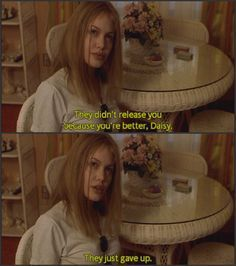 Gave up (Girl Interrupted) She was so evil. Iconic Movies, Old Movies, Great Movies, Girl Interrupted Quotes, Movies Showing, Movies And Tv Shows, Movie Stars, Movie Tv, About Time Movie