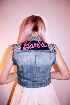 Barbie Studded Denim Vest.