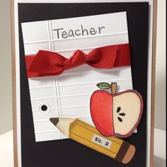 Cute card for teacher appreciation! Would be super cute with the notebook edge punch =)