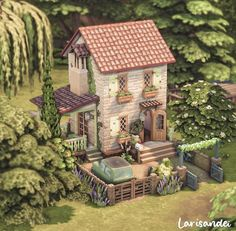 Sims 4 House Building, Sims House Plans, Sims 4 Houses Layout, House Layouts, The Sims 4 Pc, Sims Cc, White Farmhouse Exterior, Sims 4 Anime, Cute Minecraft Houses
