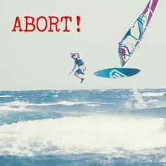 Abort mission! :) #windsurfing #windsurf #jump #crash