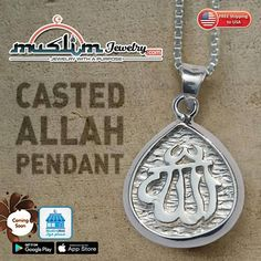 Sterling Silver Allah Pendant Made with Lost Wax Casting Method Lost Wax Casting, Muslim, Allah, Islamic, It Cast, Sterling Silver, Pendant, Jewelry, Jewlery