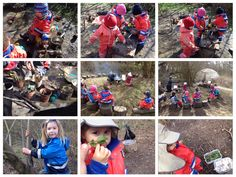 Sensory fun in the forest Forest School Activities, Love Holidays, Folk, Old Things, Nursery, Camping, Bird, Play, Children