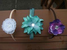 DIY flower headband, DIY lace headband