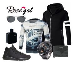 """""""Man in sport style"""" by mercija on Polyvore featuring NIKE, Yves Saint Laurent, Lacoste, men's fashion i menswear"""