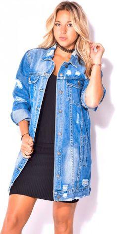 33 meilleures images du tableau Veste en jean oversize   Jackets ... 77becfcf7c96