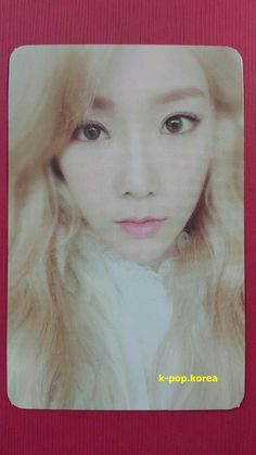 Taxi Girl/'s Generation 태연 SNSD Taeyeon Oficial Tarjeta con fotografía 3rd álbum Mr