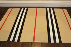 Hand Painted Vinyl Floormat. Paint on Vinyl Flooring to create covering under dining table?