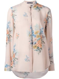 Alexander McQueen chiffon floral-print shirt