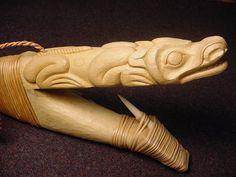 Tsimshian Art By John C Hudson Native Art, Native American Art, Tlingit, Totem Poles, American Spirit, Halibut, Indigenous Art, Mountain Man, Wood Carvings
