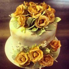 50 year anniversary cake decorated by Jaime. #jametastic