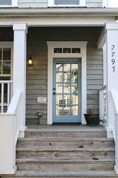 The Wicker House: Beach Cottages- front door color Beach Cottage Style, Coastal Cottage, Beach House Decor, Coastal Living, Coastal Style, Beach Cottage Exterior, Coastal Decor, Beach House Exteriors, Bungalow Exterior