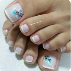 Trendy French Pedicure Novelties of French Design Pedicure, Trends&Photo Ideas Pretty Toe Nails, Cute Toe Nails, Love Nails, French Pedicure Designs, Toe Nail Designs, Toe Nail Color, Toe Nail Art, Pedicure Nail Art, Manicure And Pedicure