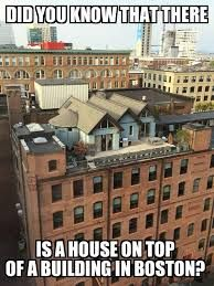 Image result for houses on top of buildings in Boston