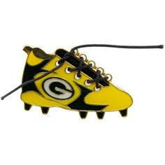 Green Bay Packers 1 1/4-Inch Lace-Up Cleat Pin-fanatics
