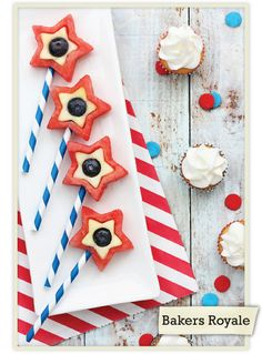 Instead of a fruit bowl, get creative with these patriotic fruit pops for the 4th!