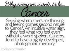 Omg, so true. But, it's a curse sometimes, because we get moody, so I don't think everybody wants to be Cancer. July Cancer, Cancer Moon, Cancer Zodiac Facts, Cancer Quotes, Cancer Horoscope, Gemini And Cancer, Cancer Astrology, Pisces, My Zodiac Sign