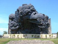 Huge statues of Bhagwan Vishnu & Garuda at Garuda Wisnu Kencana Park. Bali, Indonesia