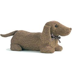 Strawberry Fool - Dog Doorstop - Daschund
