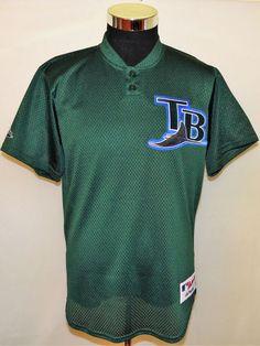 0224697b0 Tampa Bay Devil Rays Vintage Green Majestic Brand Blank Back Jersey Adult  Size M #Majestic