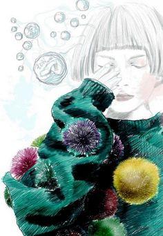 Sarah Betty: fashion illustrations I love <3 #fashion #illustration #cool #fashionillustration