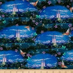 Designed by Liz Goodrick-Dillon for Quilting Treasures, this cotton print fabric is perfect for quilting, apparel and home decor accents. Colors include shades of blue, shades of green, purple, red, orange, brown and white.