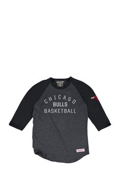 Mitchell and Ness Chicago Mens Black Team Issued Fashion Tee