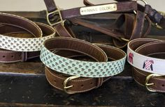 Perfect belt to match your bow tie this derby season | $85 | Clayton & Crume