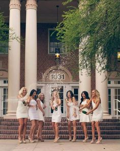 University of Arizona gamma phi beta cutest sorority photoshoot photo shoot ideas white dress grad photo idea popping champagne