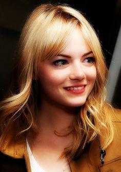 Glowing, gorgeous Emma Stone