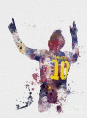 Soccer Mixed Media - Messi by Rebecca Jenkins