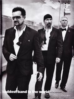 U2 - October, 2011 issue of British GQ (the article is written by Elvis Costello).