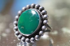 Vintage Navajo Wrought 925 Sterling Silver Satellite Turquoise Ring | eBay