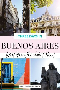 The Buenos Aires City Guide. Cool things to do in Buenos, Aires, Argentina. Explore colourful La Boca, find the best food and enjoy the city's hectic nightlife in this 3 day Buenos Aires guide. What to do, what to see and where to eat in Buenos Aires. #travel #traveltips #southamerica #argentina Backpacking South America, South America Travel, Places To Travel, Travel Destinations, Travel Tips, Argentina Travel, Short Trip, Latin America, Plan Your Trip