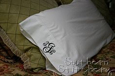 I am obsessed with monogramming right now! @Vanessa Dawn Monogrammed Pillow Cases 2 Pillowcases by SouthernStitchery, $28.00