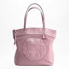 I can't decide..silver/mauve, brass/gold, or silver/sand. COACH (OUTLET) LAURA LEATHER TOTE  $119.00 Now  style: F18336