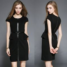 Elegant office dress pencil dress for 2016 summer slim mini dress size S/M/L/XL >>> You can get more details by clicking on the image.