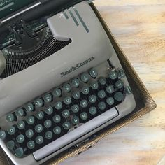 What will this Smith-Corona inspire you to do! Smith Corona Typewriter, Typewriters, Green And Grey, Showroom, Public, Inspire, Create, Modern, Vintage