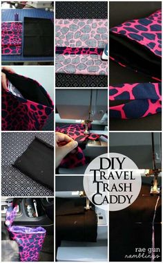 Travel Trash Bag Tutorial