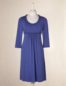 Boden ruffle neck dress with sleeves