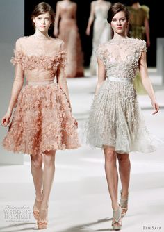 2011 Elie Saab couture dresses - mini dress wedding gown inspiration