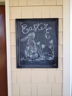 Easter chalkboard - like I could do this! can always dream