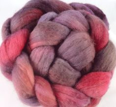 Plum Wine  Hand dyed Merino wool roving 4oz by ColourGarden, $16.00