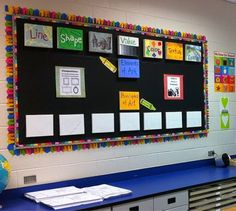 elements and principles bulletin board