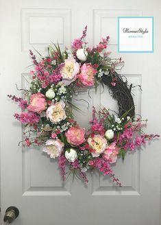 Summer Wreath Mothers Day Gift Front Door Wreath Summer