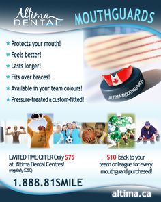 Our 'Mouthguard Mania!' promotion in on now!!!  Check it out :)  http://www.altimadental.com/special-promo/