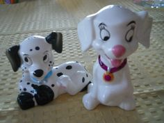 101 Dalmation Salt and Pepper Shakers  Vintage by DEWshophere, $21.99
