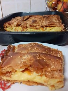 Savory Pastry, Savoury Pies, Greek Dishes, Food For Thought, Apple Pie, French Toast, Cooking Recipes, Bread, Cheese